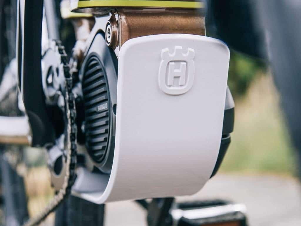 SkidPlate an einem Husqvarna Bicycle