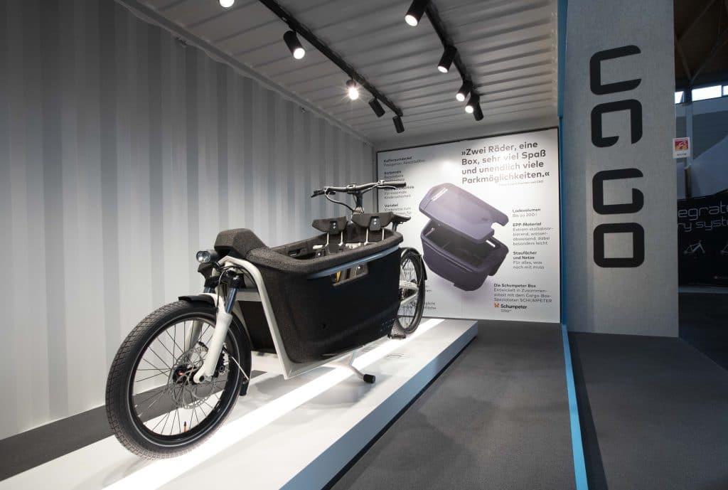 Das neu entwickelte ca go E-Lastenrad auf der Eurobike