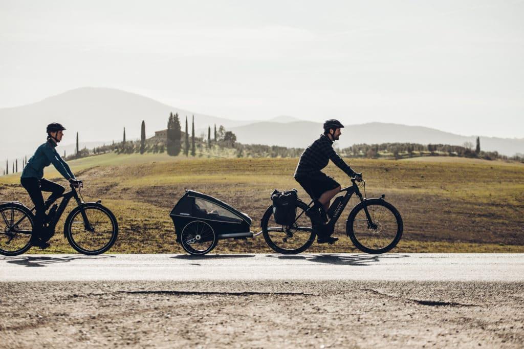 Trekkingbike mit Anhänger