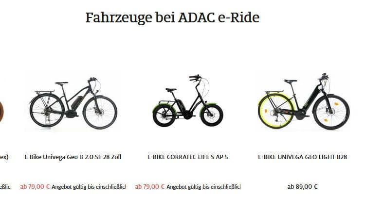 ADAC E-Bike Abo E-Bikes - eBikeNews