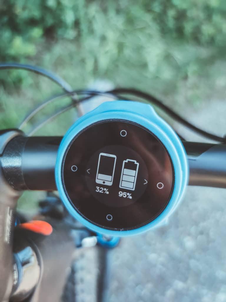 Beeline Velo Navi fürs Fahrrad Akkustand - Test und Erfahrungsbericht
