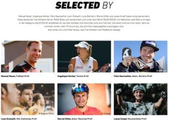 Viele bekannte Sportler fahren Fahrräder von Rose Bikes - eBikeNews