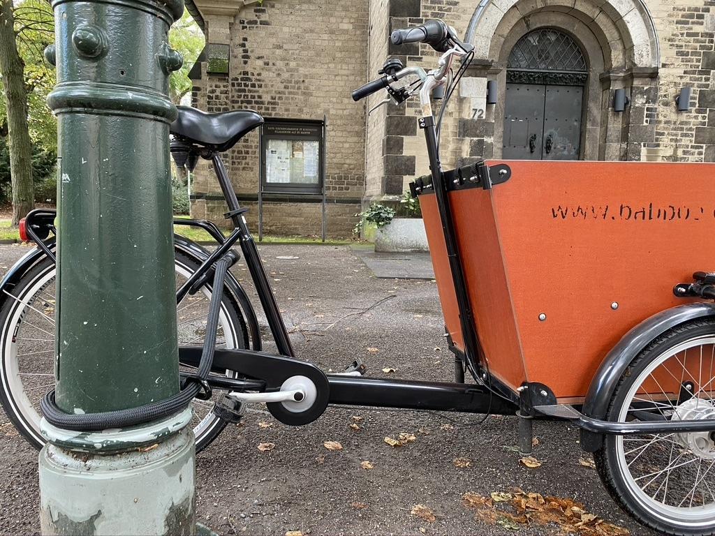 Tex-Lock Mate Einsteckkette am Lastenrad - eBikeNews