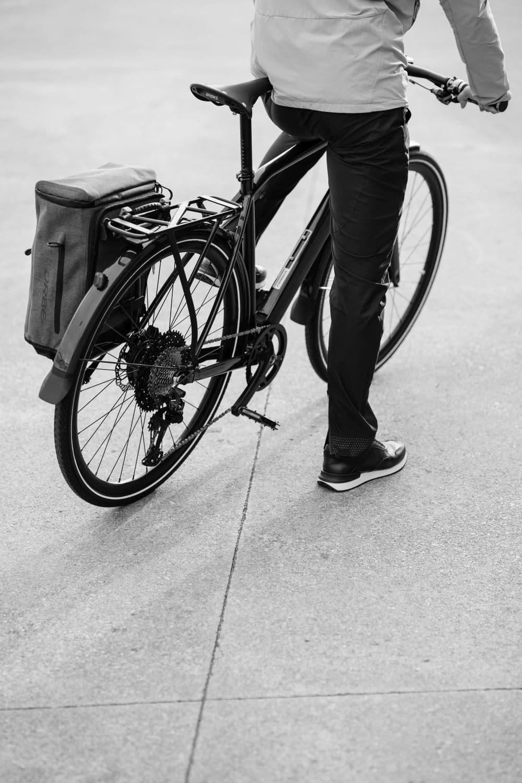 Gepäckträger und Tasche am Vibe
