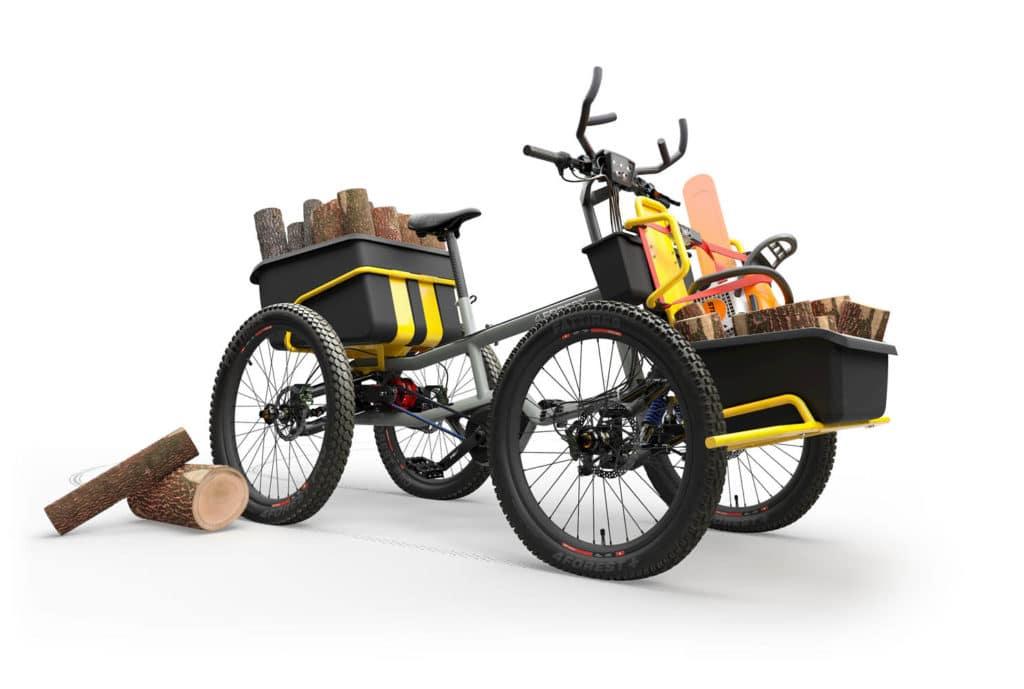 Cargo-E-Bike mit vier Rädern - eBikeNews
