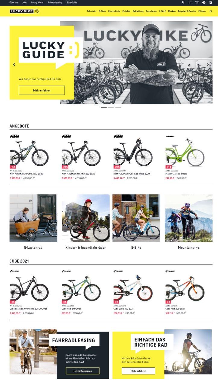 Onlineshop von Lucky Bike