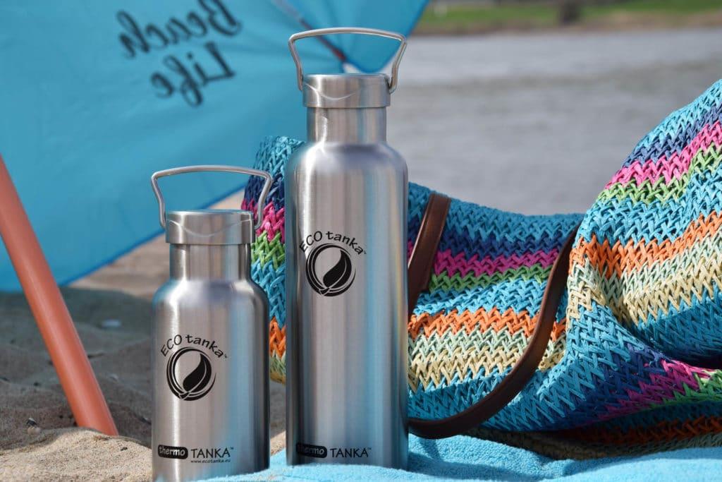 Ecotanka Edelstahlflasche im Urlaub - eBikeNews