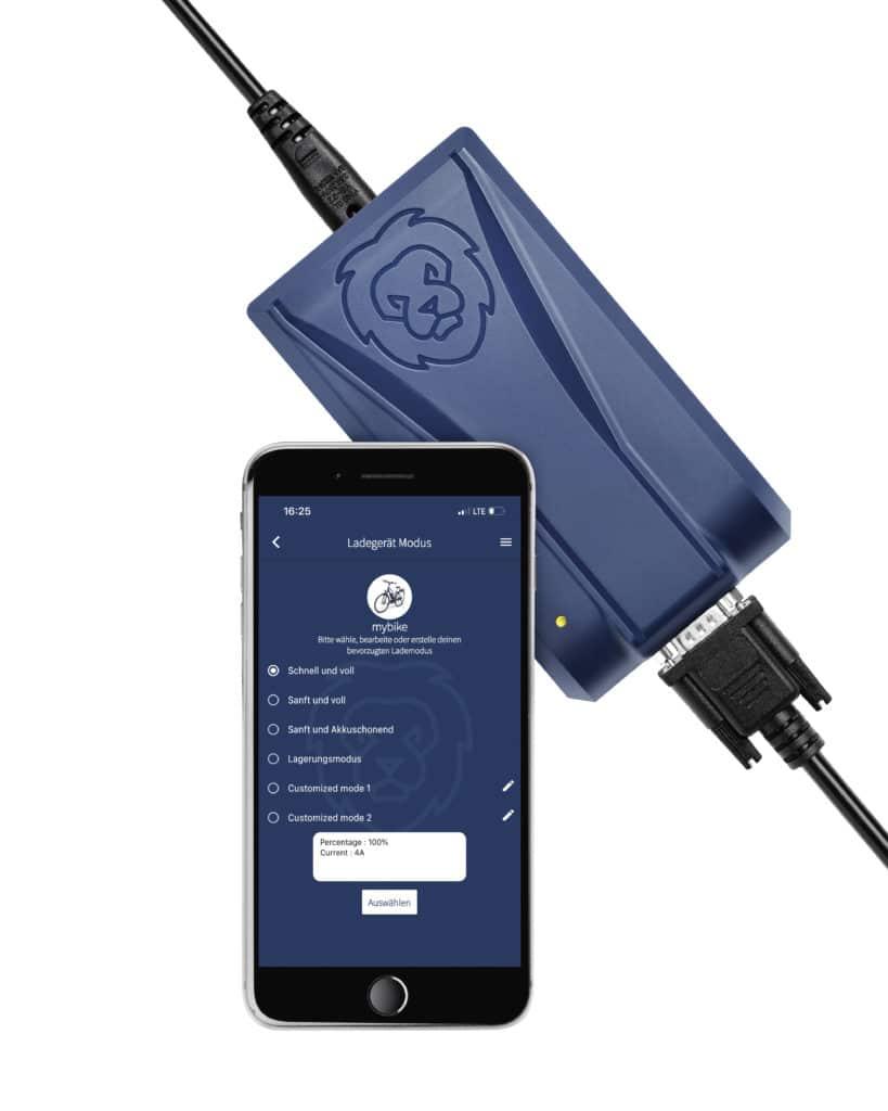 App für E-BIke-Ladergerät